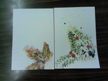 絵手紙あそび-葉っぱ2-1108