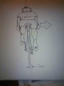 東員自転車工房の作業日誌-センターのずれ