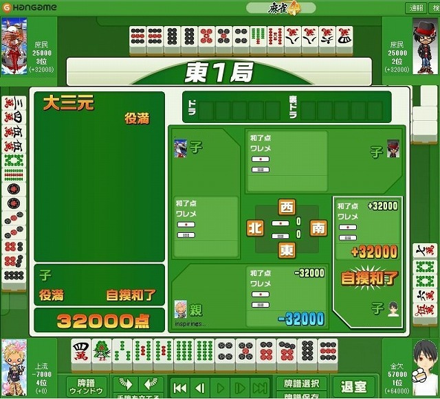 咲ーSaki-好きによる麻雀闘牌記録-大三元包8