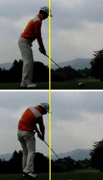 $Timのお気楽ゴルフ日記-前傾比較2