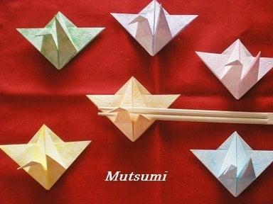 パリに飛び立つ折鶴たち|季節 ... : 折り紙箸袋作り方鶴 : 折り紙
