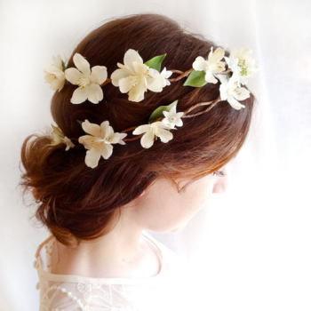 【パーフェクトウェディング宣言!】-ウェディングヘアスタイル☆花冠編み込み