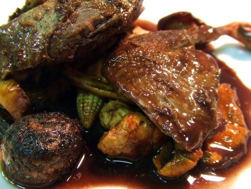 食べて飲んで観て読んだコト+レストラン・カザマ-山鳩のロースト