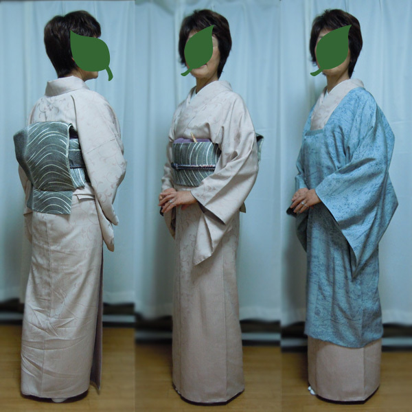 Yukoのハンドメイド+着物雑記-唐草模様のお召し