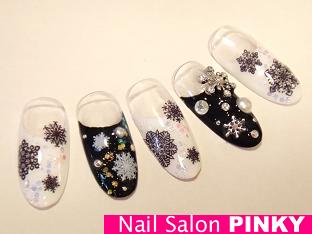 PINKY's nailog-ブラックスノウネイル