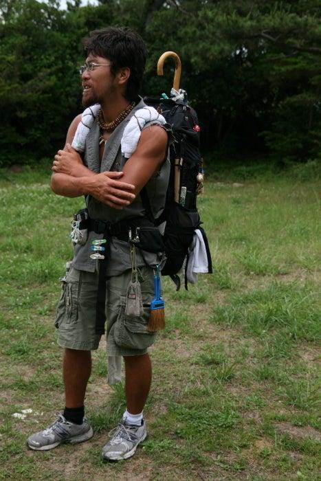 $歩き人ふみの徒歩世界旅行 日本・台湾編-歩き旅人おがわ君