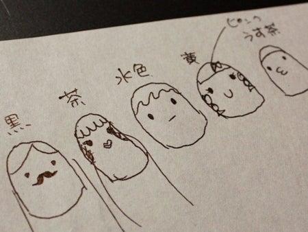 ネイルのレシピ~マニコードのジェルネイル@松濤(渋谷)~-1130指人形ネイル_イラスト