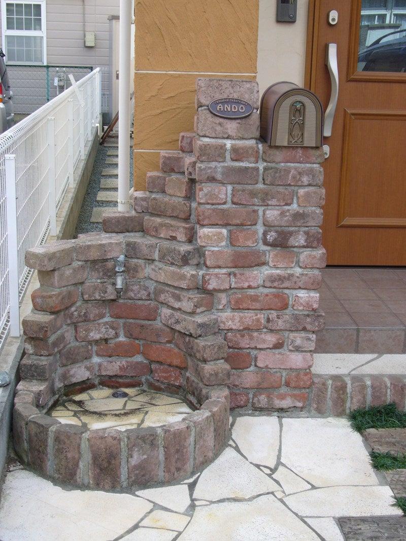 立水栓つき門柱