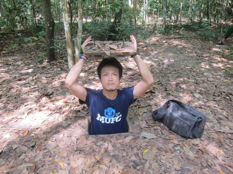 東南アジア - 旅ブログ-クチ・トンネルの隠し入り口
