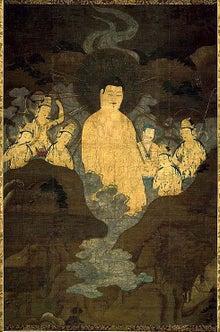 夫婦世界旅行-妻編-京都博物館の山越阿弥陀図