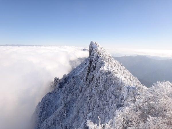 赤いクレパス君の日記-石鎚山 雪の天狗岳