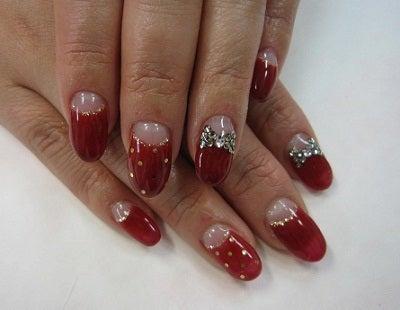 ビューティーマジック ネイルサロン&スクール-赤フレンチ
