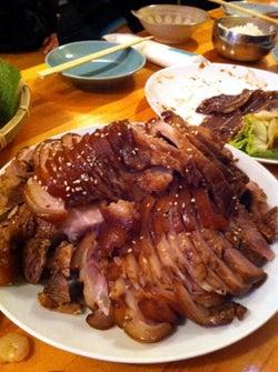 韓国料理研究家・ほんだともみのコリアンワールド-ゾンドンボッサム豚足