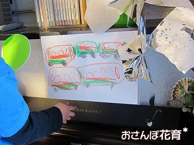 動画で見る!3分フラワーアレンジ-4歳5カ月 東海道線画