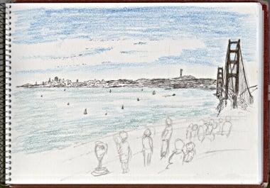 エレニンニモマケズ-金門橋とサンフランシスコ市街