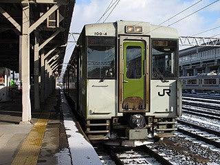 晴れのち曇り時々Ameブロ-大船渡線(一ノ関駅にて)