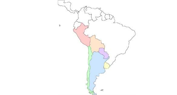 $SAORIGRAPH@南米-南米 地図