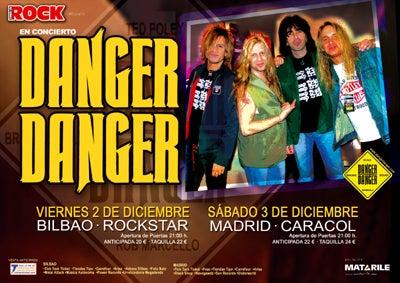 Danger Danger Spain Tour 2005 Poster