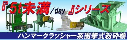 $さんらいとの冒険(晃立工業オフィシャルブログ)-5t/day未満のハンマークラッシャー系衝撃式粉砕機