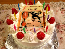 hyangのひとりごと...-誕生日ケーキ