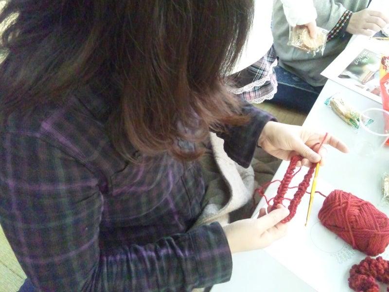 ハンドメイドニット(手編み かぎ針 棒針 ニットセラピー ワークショップ) - Mito Knit --ハンドメイドニットワークショップ第1回の様子