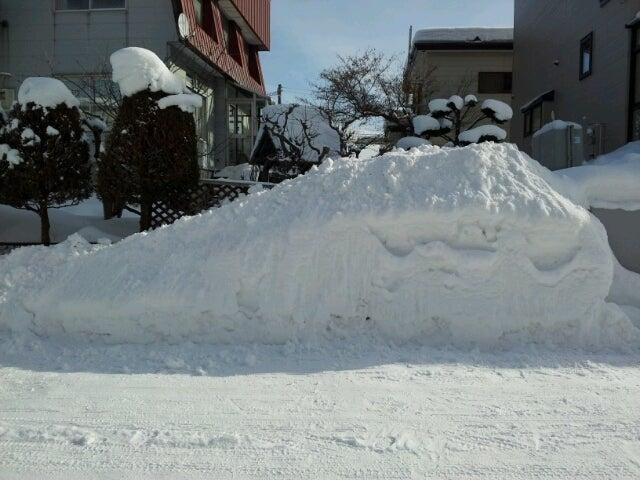 $歩き人ふみの徒歩世界旅行 日本・台湾編-雪のスロープ2