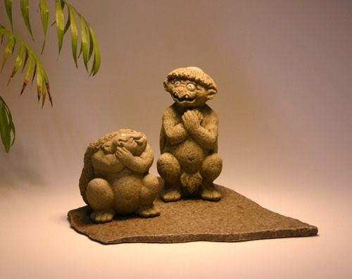河童伝説Ⅱ ~ 河童の進化 ~   仏像 アート 石を彫り続けて39年 ...