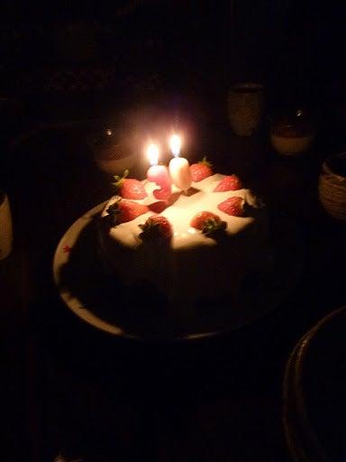 $きらめ樹大和高原の会ブログ-キャンドルケーキ