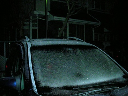 一生釣りして暮らしたい-1車凍結