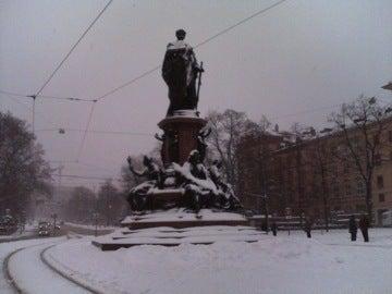 大雪のミュンヘン