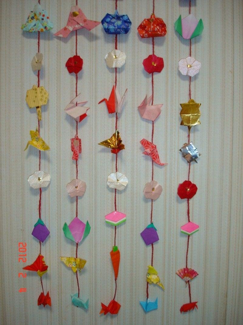 つるし飾りの作り方の画像 ... : 折り紙 七夕飾り : 七夕