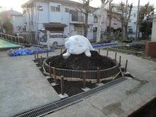 株式会社シンコスタイル スタッフブログ-木柵フェンス基礎・柱設置完了