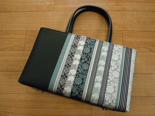 Yukoのハンドメイド+着物雑記-オーダーメイドの博多織バッグ