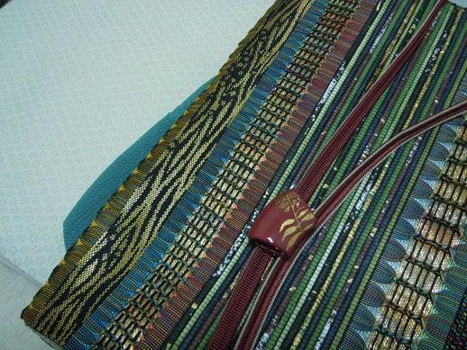 Yukoのハンドメイド+着物雑記-渡文の帯コーデ