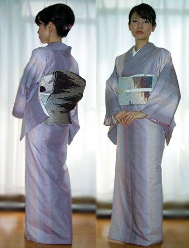 Yukoのハンドメイド+着物雑記-結城紬着姿