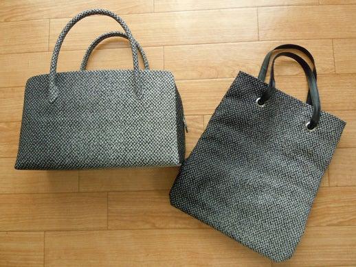 Yukoのハンドメイド+着物雑記-オーダーメイドの絞り布バッグ