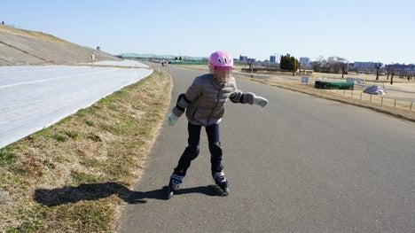 初めてのオートキャンプ!子供と一緒にキャンプに行こう!-インラインスケート3