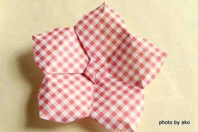 花 折り紙 桃の花 折り紙 : ameblo.jp