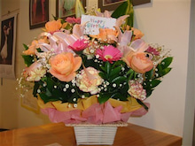バンノダンススタジオのブログ-誕生日にいただいたお花