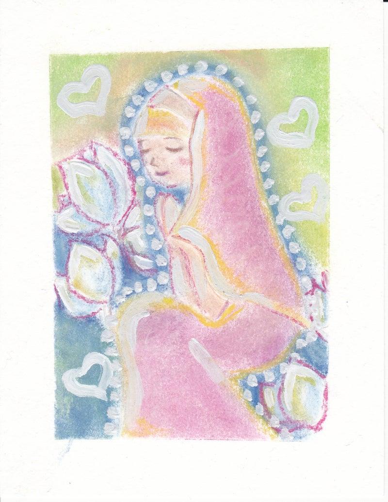 パステルアート:祈り
