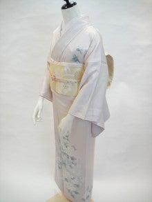 kuwashi KIMONO RENTAL店主のブログ-薄桜色正絹訪問着 袋帯フルセット