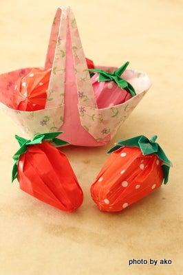 クリスマス 折り紙:折り紙 いちご-ameblo.jp