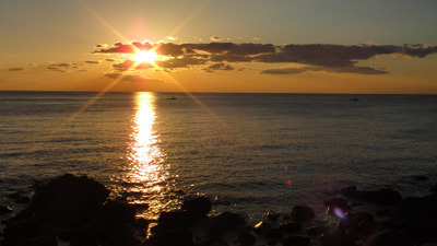 太平洋の夕陽