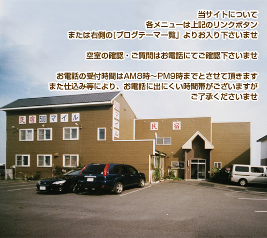 虎杖浜温泉郷/民宿500マイル