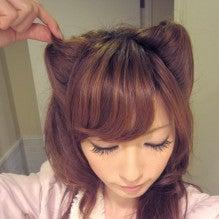 簡単猫耳ヘアの作り方