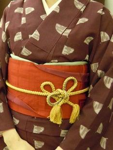 Yukoのハンドメイド+着物雑記-半幅帯変わり結び2