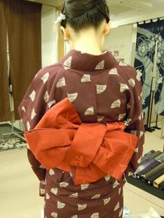 Yukoのハンドメイド+着物雑記-半幅帯変わり結び