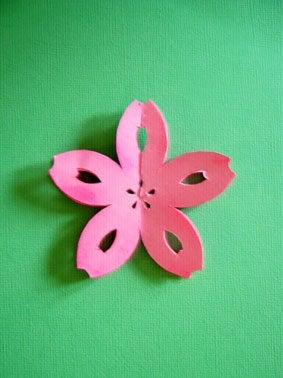 ハート 折り紙:折り紙桜立体作り方-ameblo.jp