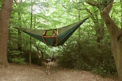 $初めてのオートキャンプ!子供と一緒にキャンプに行こう!-ハンモックテント