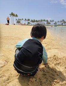 うずらの裏稼業-砂あそび背中